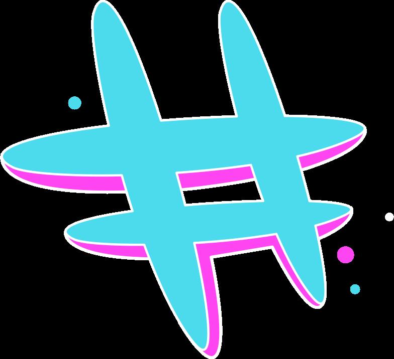 Imágenes vectoriales hashtag rg azul en PNG y SVG estilo  | Ilustraciones Icons8