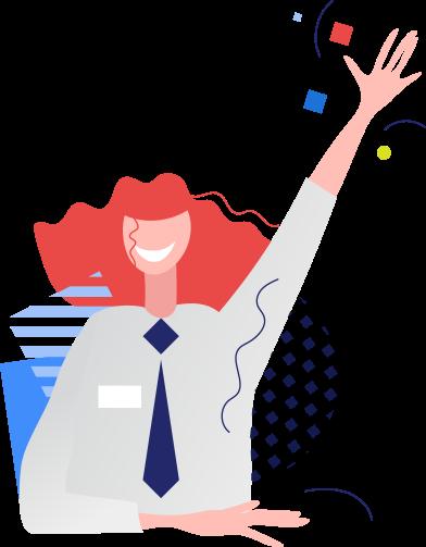 Иллюстрация waving woman в стиле  в PNG и SVG | Icons8 Иллюстрации