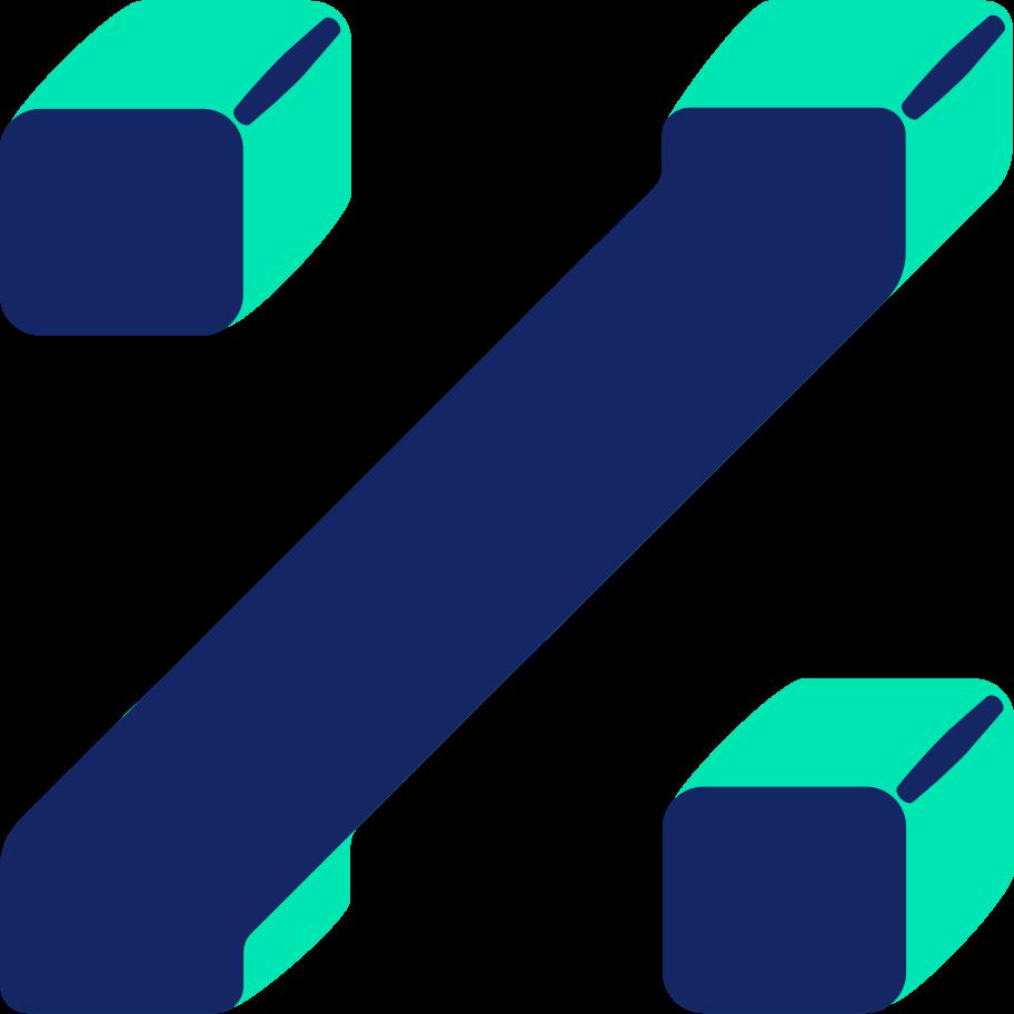 percent sign Clipart illustration in PNG, SVG