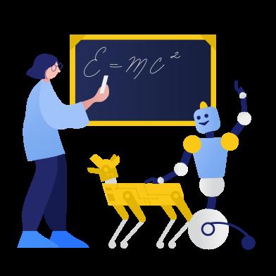 Иллюстрация Машинное обучение в стиле  в PNG и SVG | Icons8 Иллюстрации