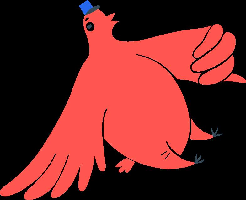 postman bird Clipart illustration in PNG, SVG