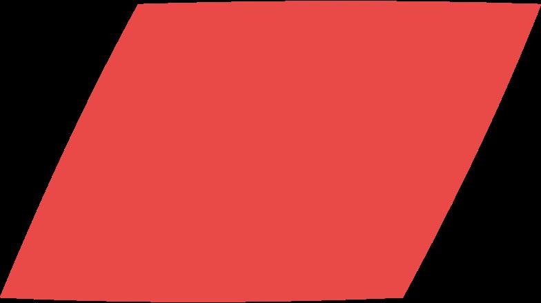 parallelogram red Clipart illustration in PNG, SVG