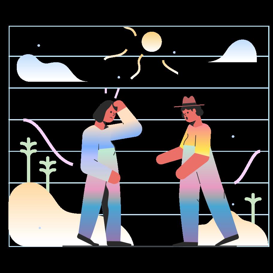 Sunstroke Clipart illustration in PNG, SVG