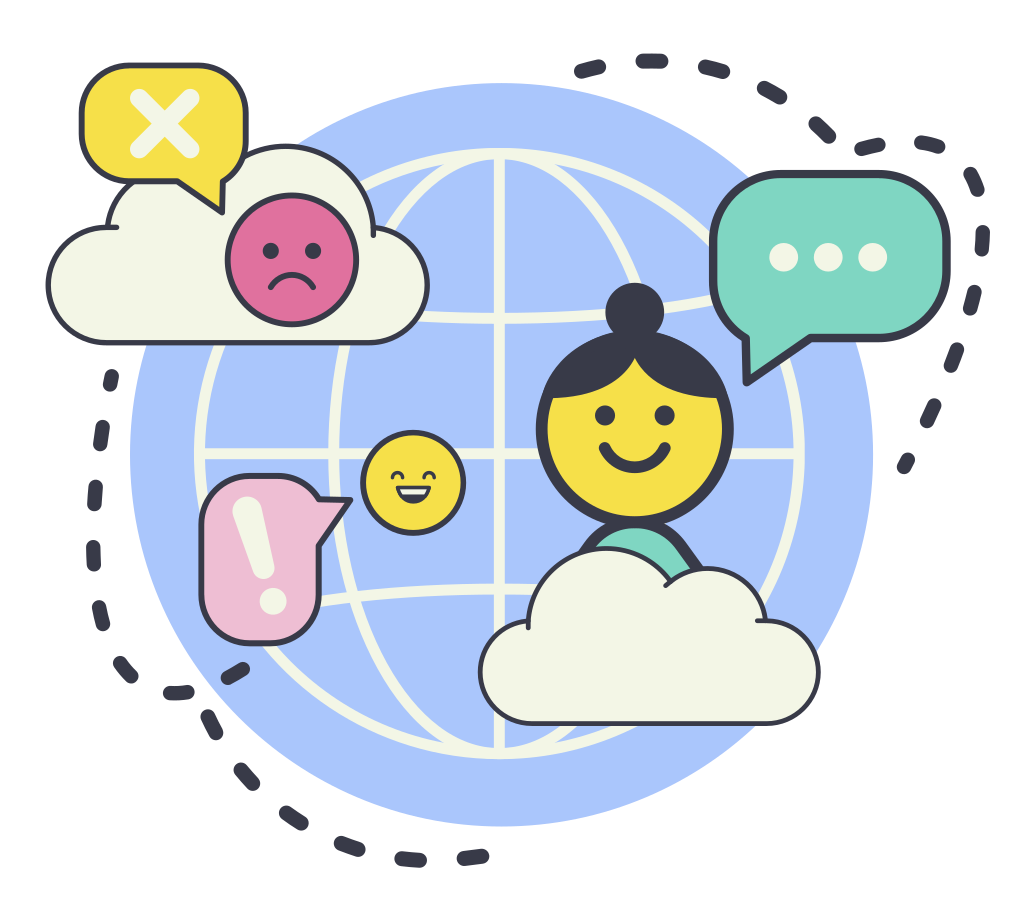 International talking Clipart illustration in PNG, SVG