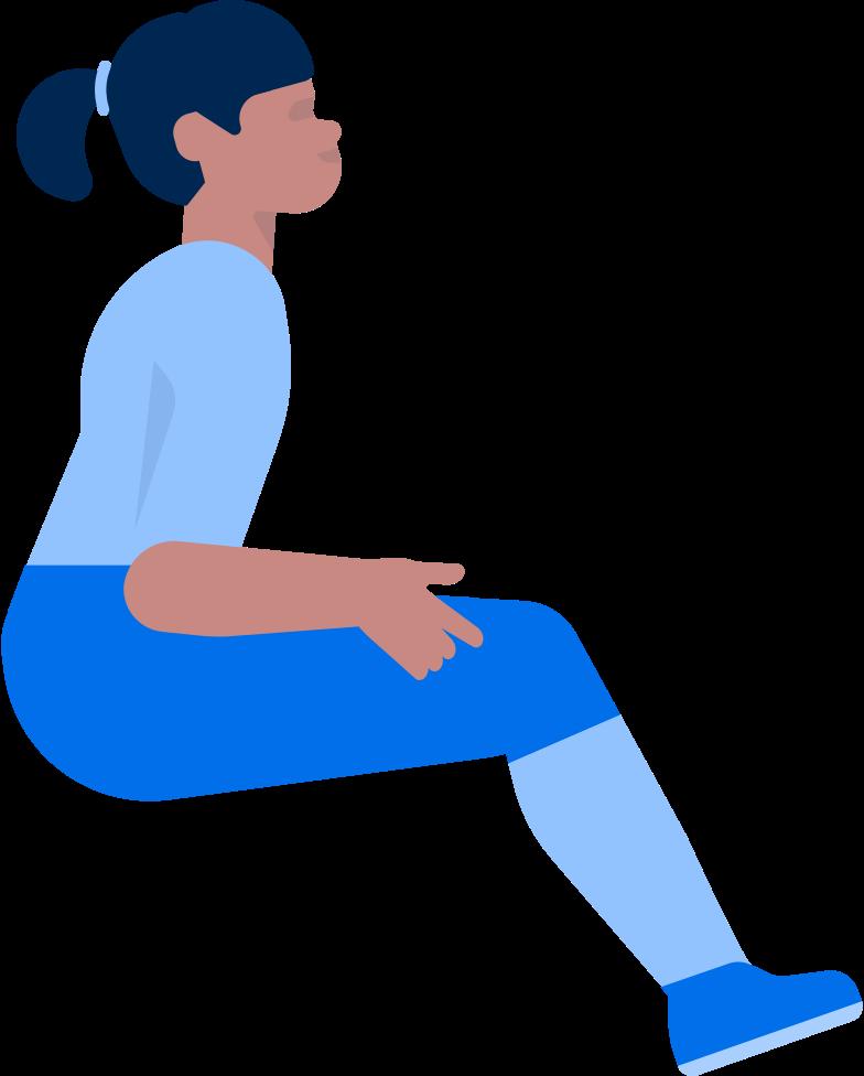 invalid girl Clipart illustration in PNG, SVG