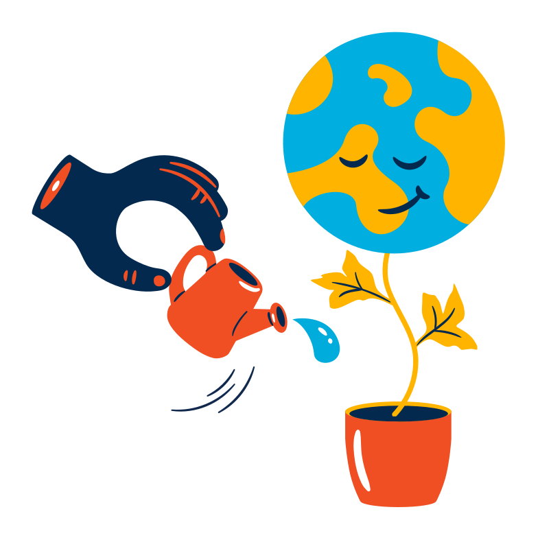 Taking care of our planet Clipart illustration in PNG, SVG
