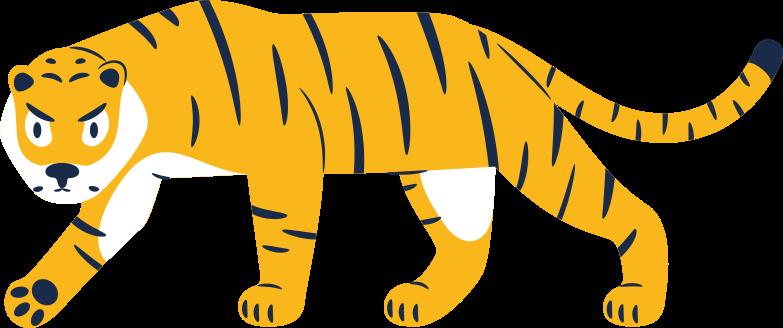 tiger walking Clipart illustration in PNG, SVG
