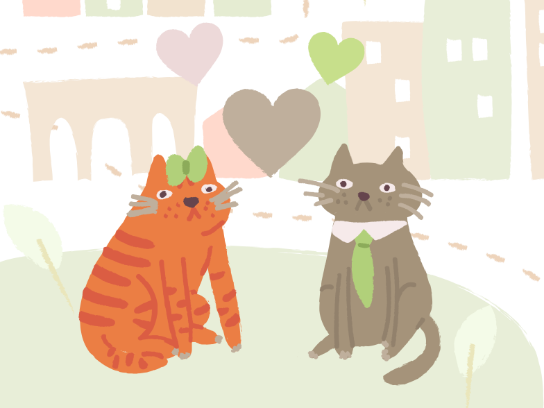 Cats wedding Clipart illustration in PNG, SVG