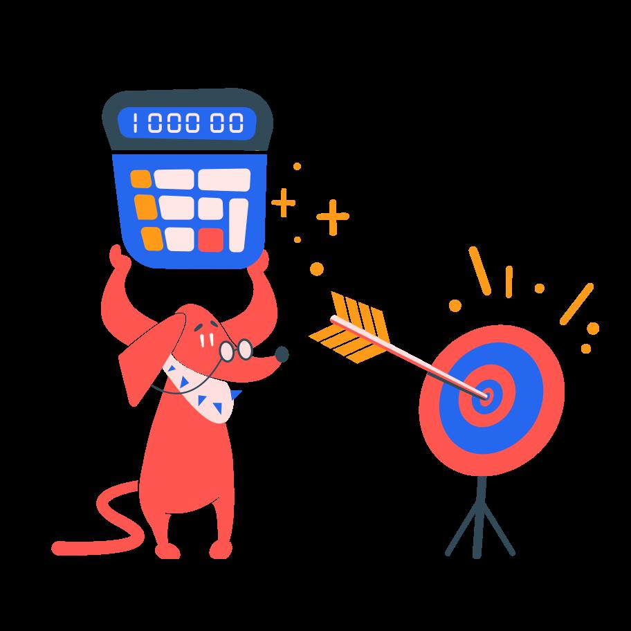 Finance goal  Clipart illustration in PNG, SVG