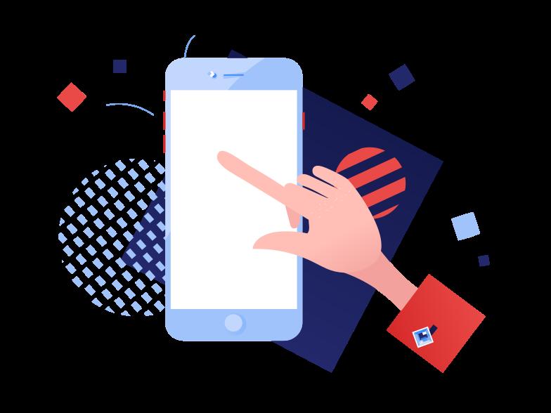 Immagine Vettoriale Utilizzando lo smartphone in PNG e SVG in stile  | Illustrazioni Icons8