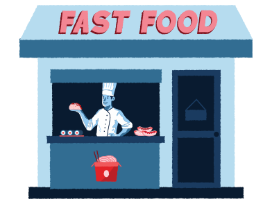 style Fast food store images in PNG and SVG | Icons8 Illustrations