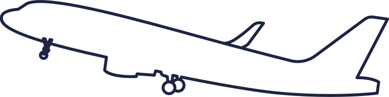 welcome!  plane 2 line Clipart illustration in PNG, SVG