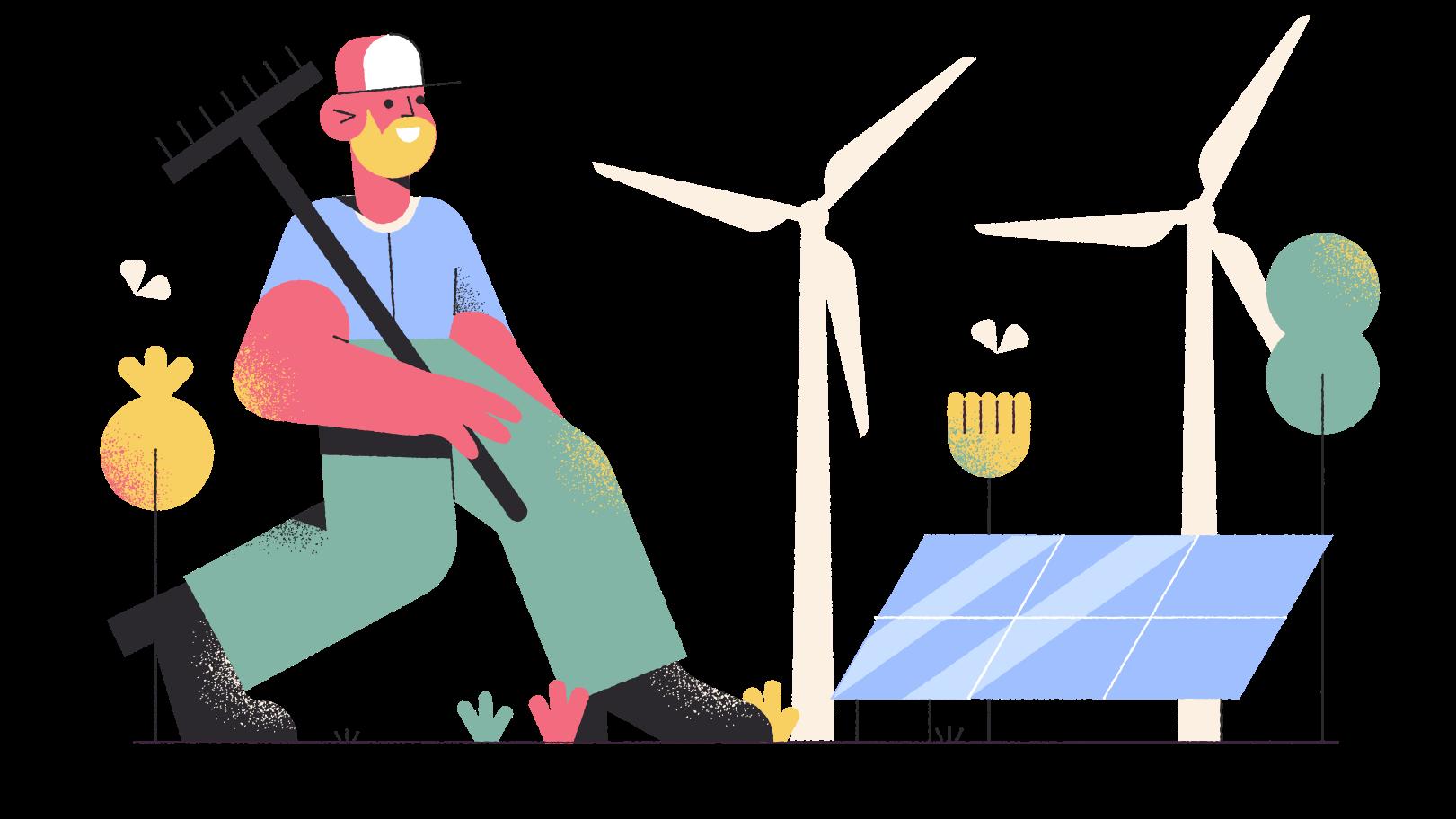 Ilustración de clipart de tecnologías ecológicas en PNG, SVG