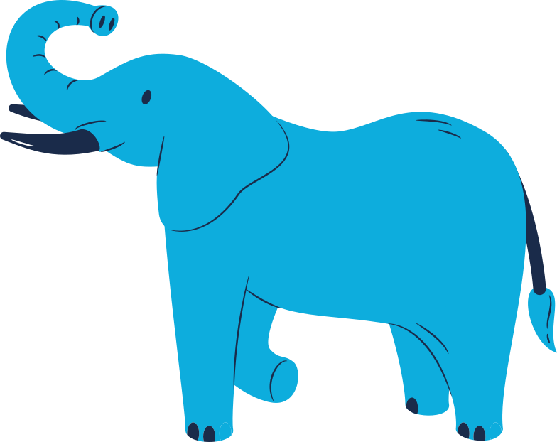 elephant standing Clipart illustration in PNG, SVG