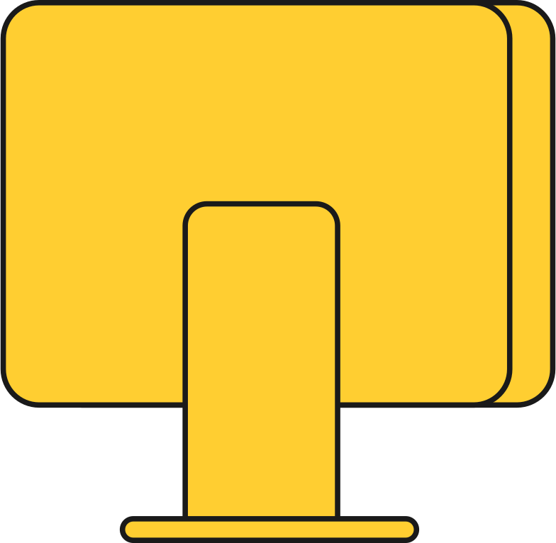 pc display back Clipart illustration in PNG, SVG