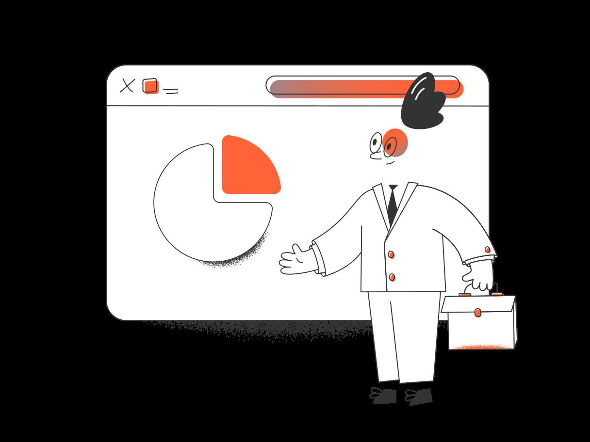 Geschäftsanalysen Clipart-Grafik als PNG, SVG