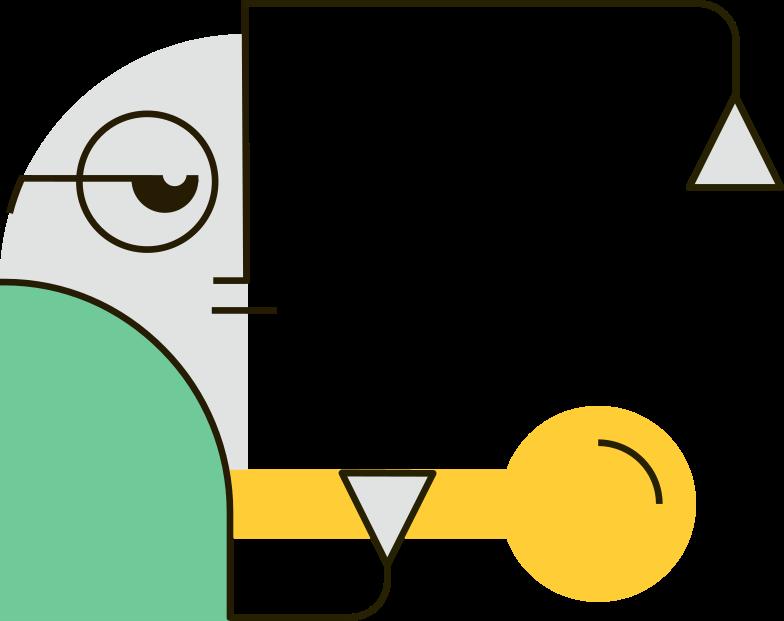 green man Clipart illustration in PNG, SVG