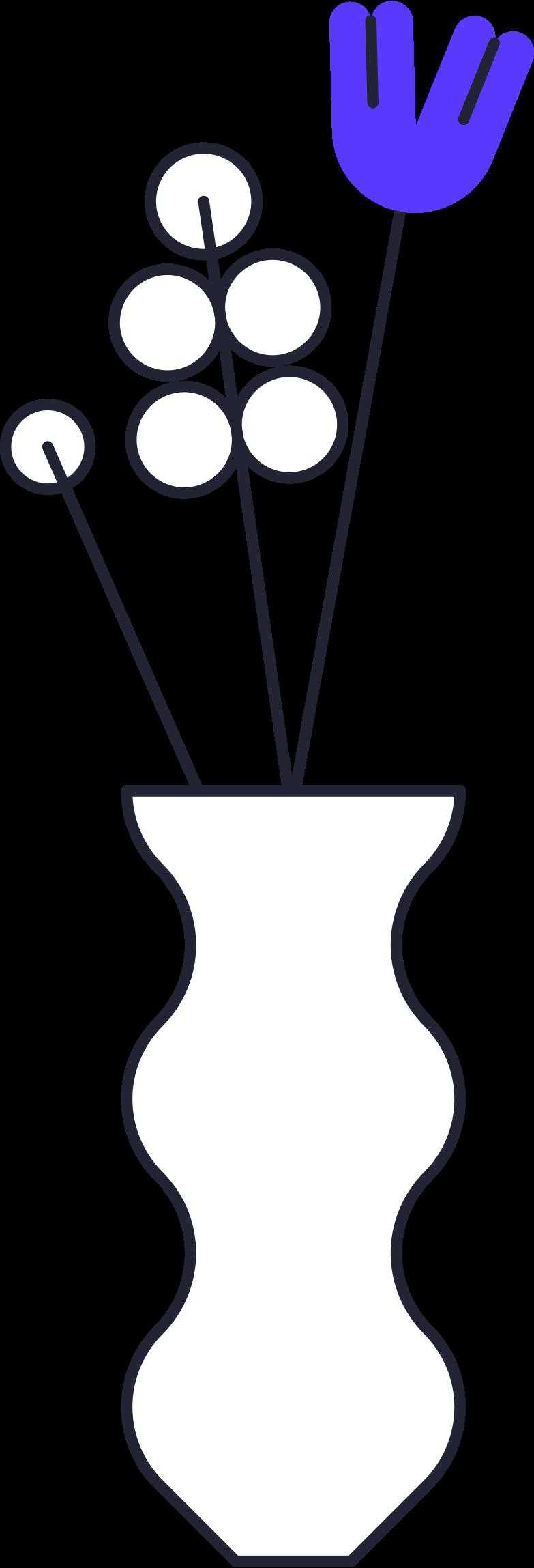 Ilustración de clipart de payment processed  vase with flowers en PNG, SVG