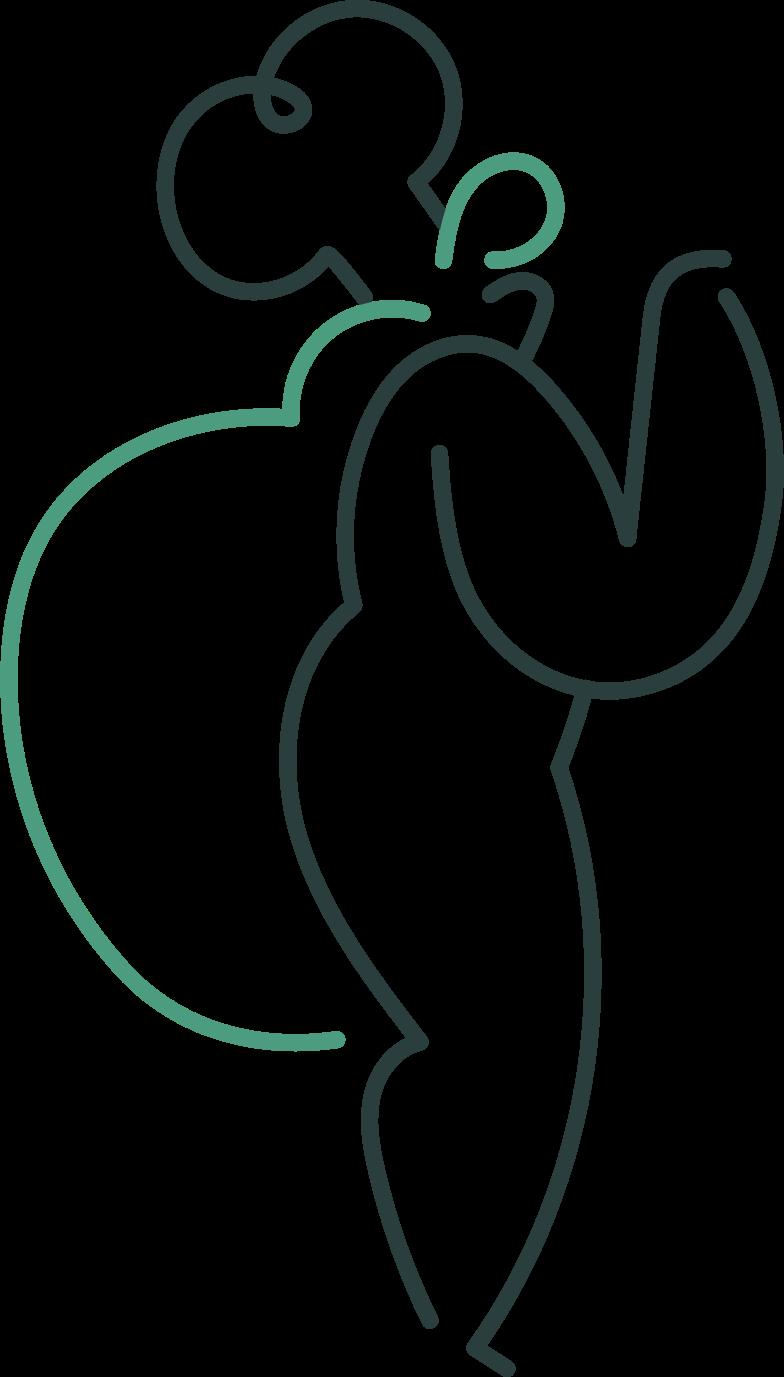 girl cook Clipart illustration in PNG, SVG