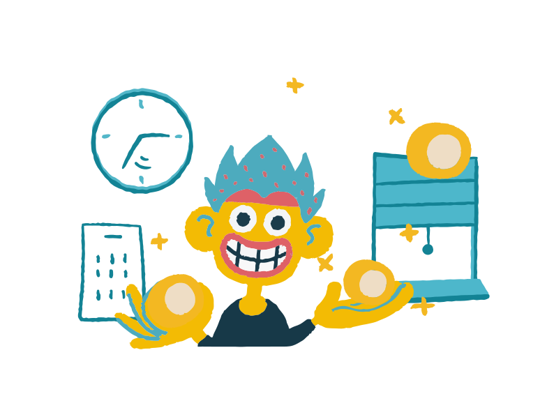 Easy and fast profit  Clipart illustration in PNG, SVG