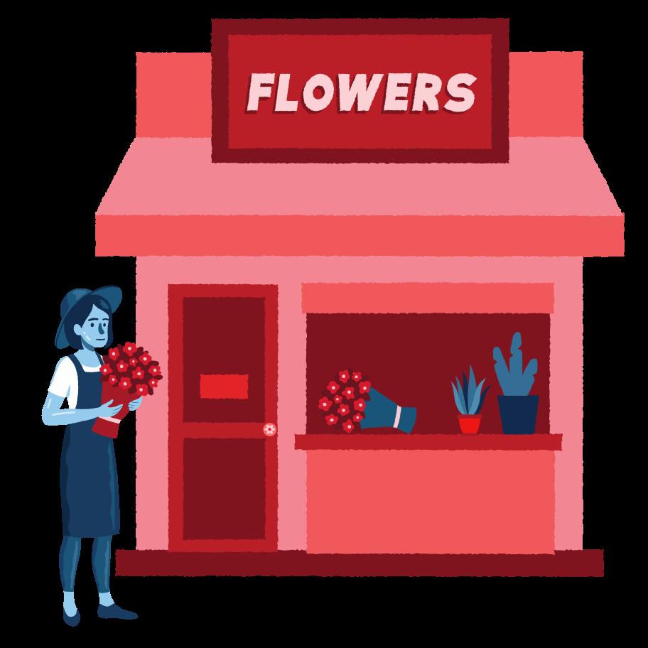 Flowers shop Clipart illustration in PNG, SVG