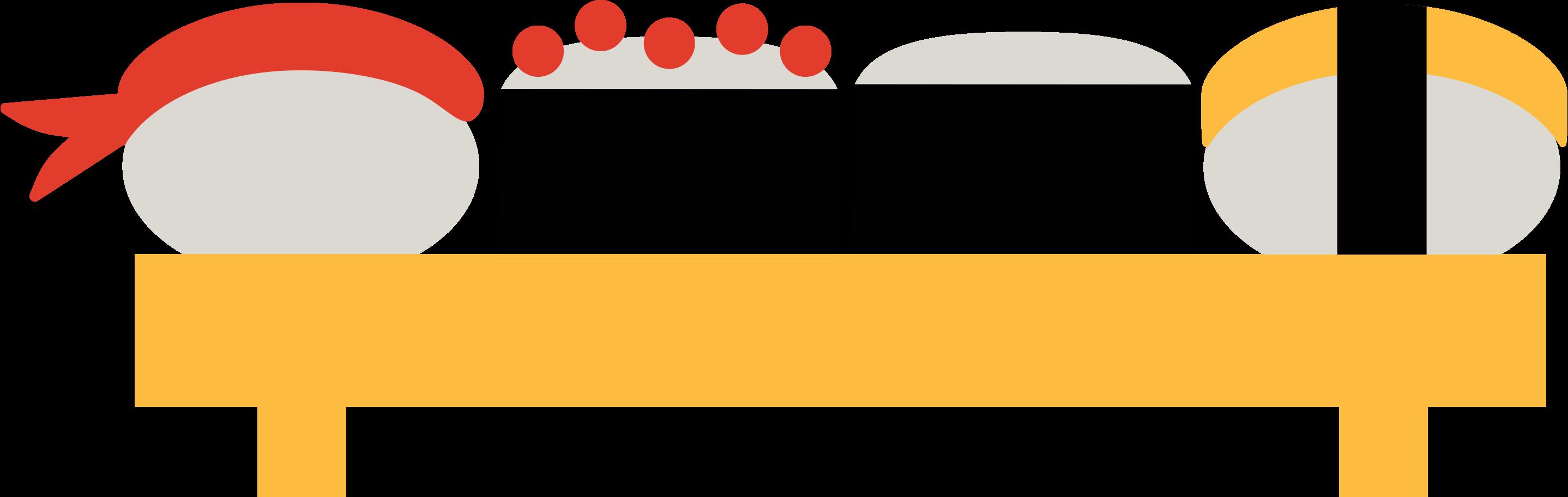 sushi set Clipart illustration in PNG, SVG