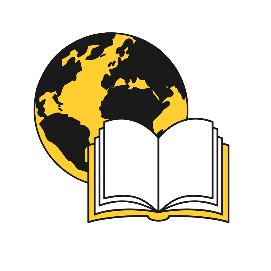 The whole world in books Clipart illustration in PNG, SVG