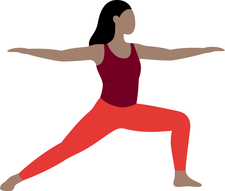woman doing yoga practice Clipart illustration in PNG, SVG