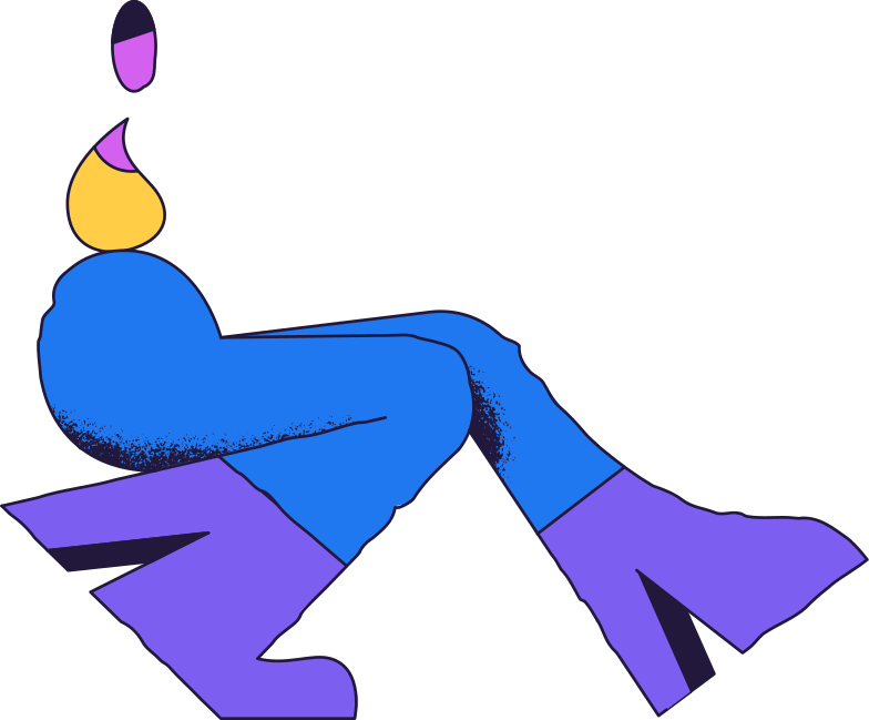 sitting person Clipart illustration in PNG, SVG