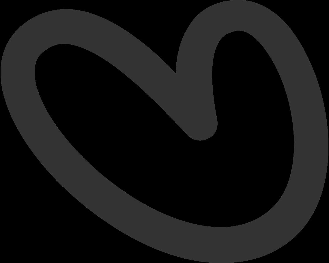 Ilustración de clipart de corazón negro en PNG, SVG