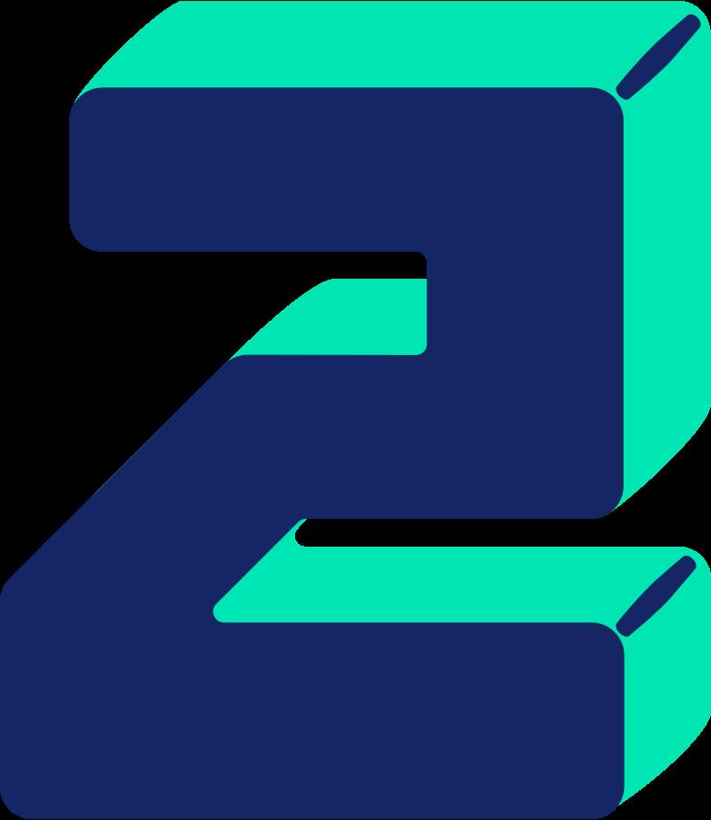 Ilustración de clipart de Número dos en PNG, SVG