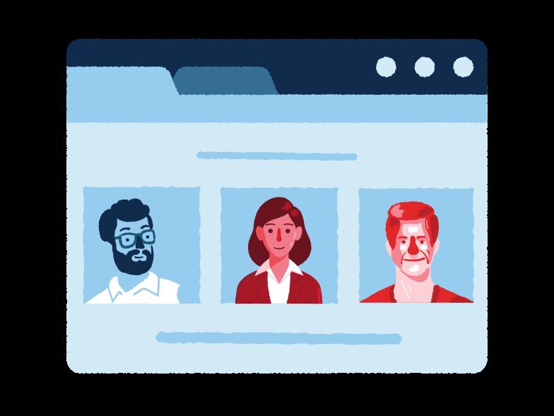 Online-teambesprechung Clipart-Grafik als PNG, SVG