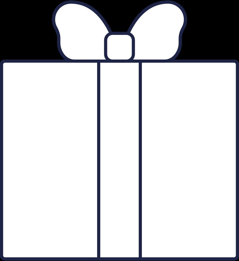 present 1 line Clipart illustration in PNG, SVG