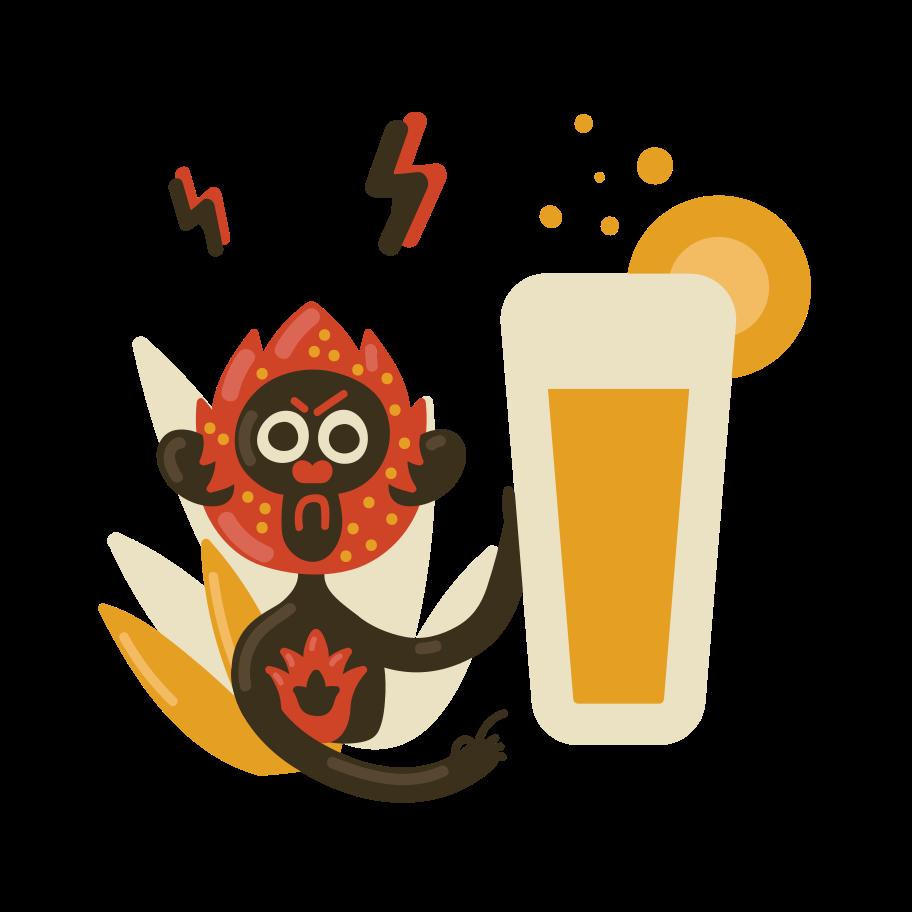 Beer time Clipart illustration in PNG, SVG