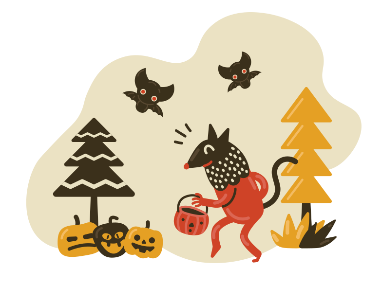 Halloween activities Clipart illustration in PNG, SVG