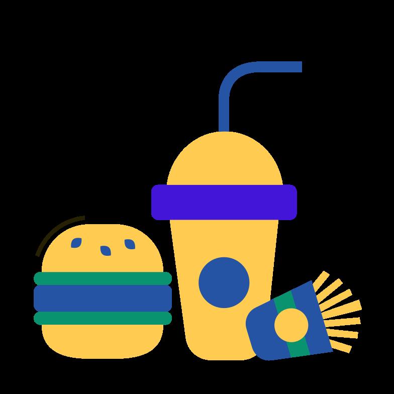 Fast food Clipart illustration in PNG, SVG