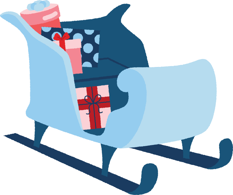 style sleigh with presents Vector images in PNG and SVG | Icons8 Illustrations