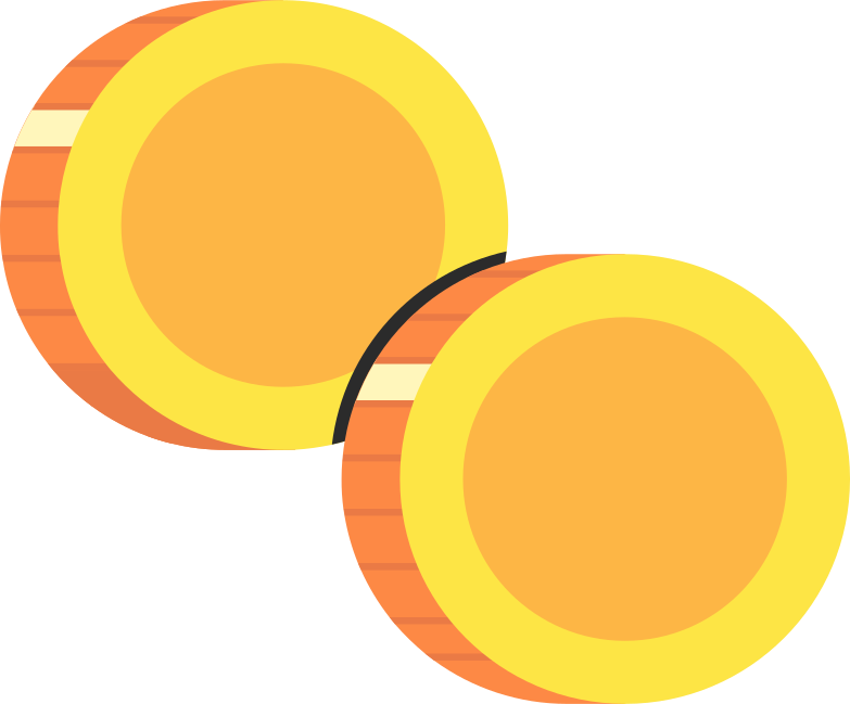 two coins Clipart illustration in PNG, SVG