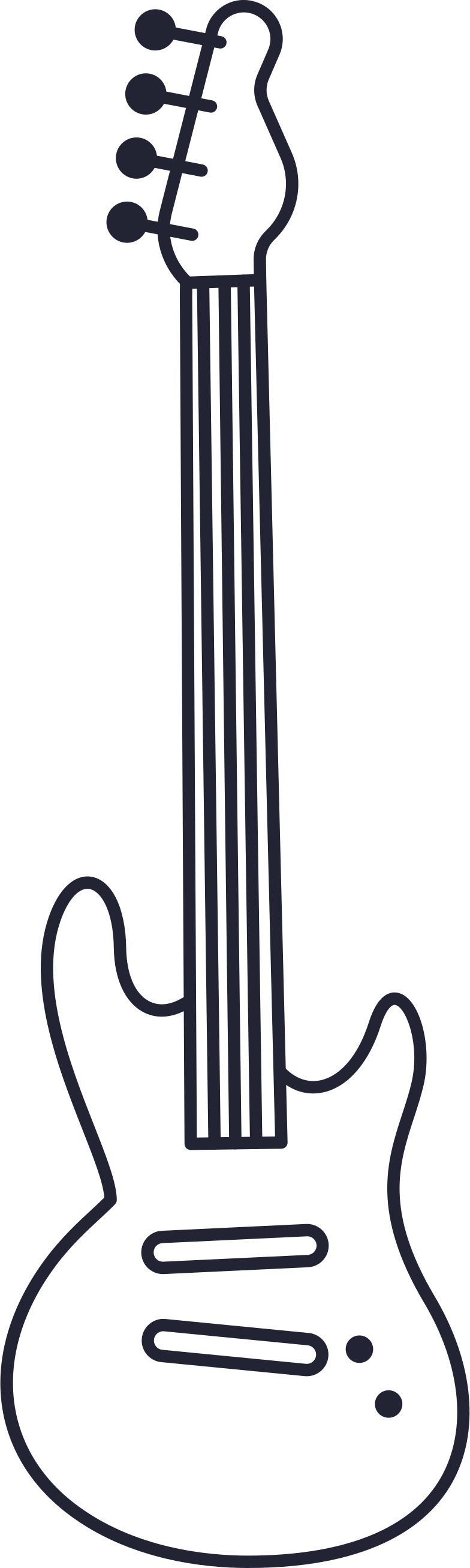 electric guitar Clipart illustration in PNG, SVG