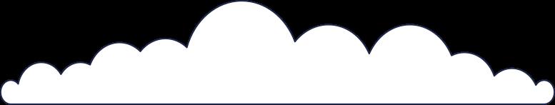 cloud 2 line Clipart illustration in PNG, SVG
