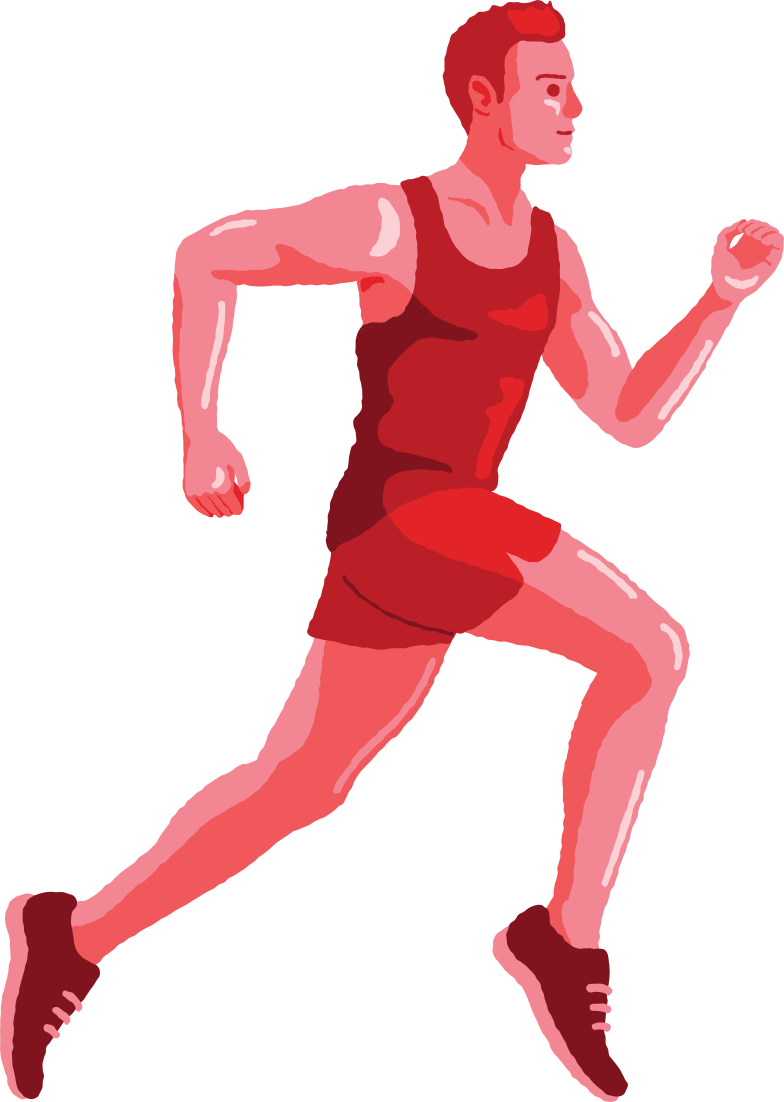 man running Clipart illustration in PNG, SVG