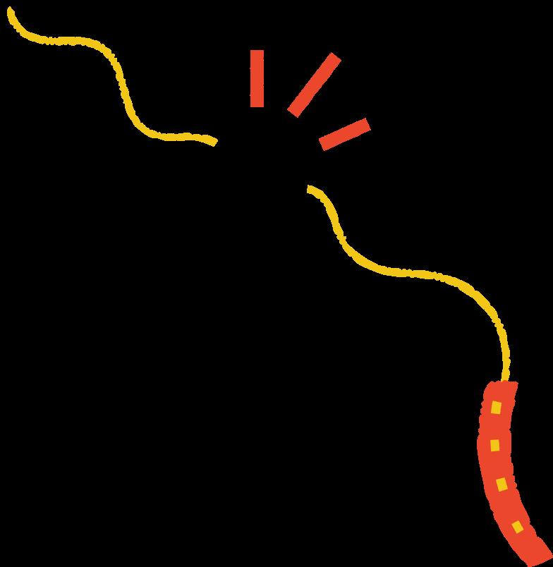 torn dog leash Clipart illustration in PNG, SVG