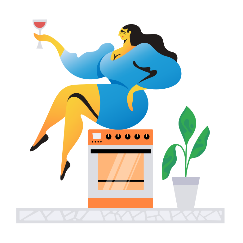 Housewife Clipart illustration in PNG, SVG
