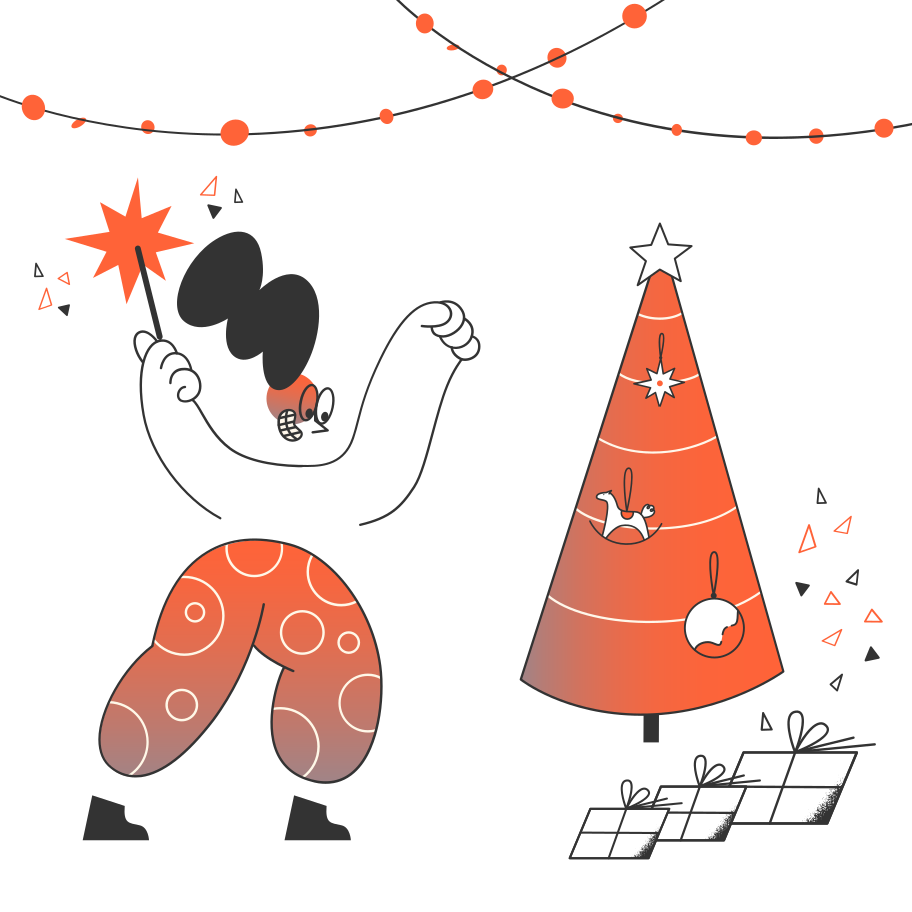 Merry Christmas Clipart illustration in PNG, SVG