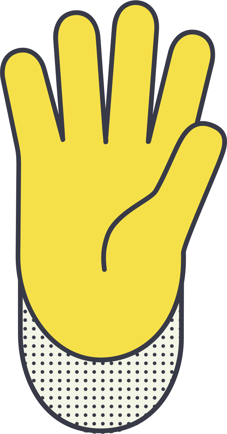 hello hand Clipart illustration in PNG, SVG