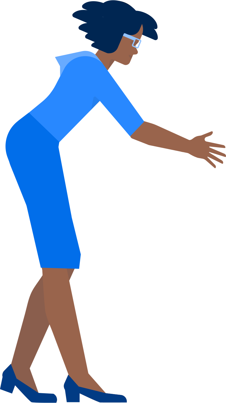 woman leaning forward Clipart illustration in PNG, SVG