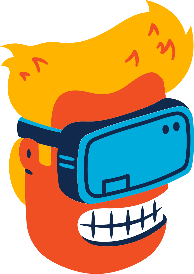 head in a vr headset Clipart illustration in PNG, SVG