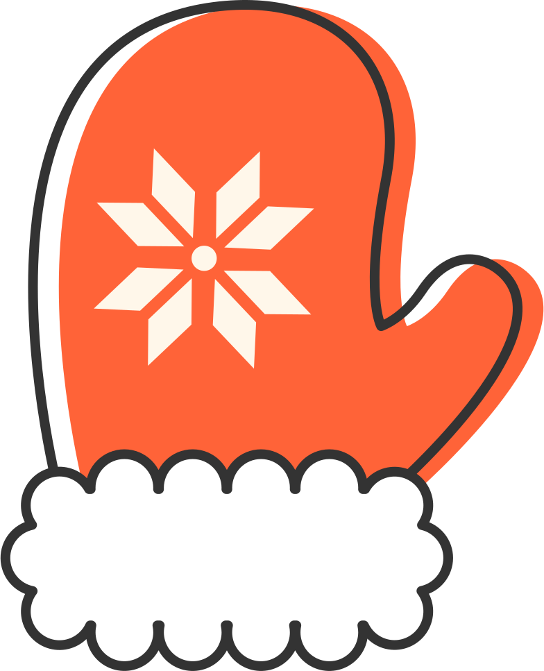 mitten Clipart illustration in PNG, SVG