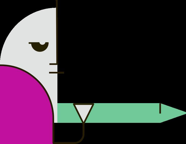 writer Clipart illustration in PNG, SVG