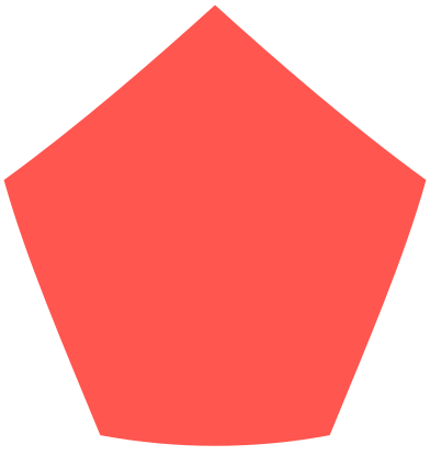 style pentagon red images in PNG and SVG | Icons8 Illustrations